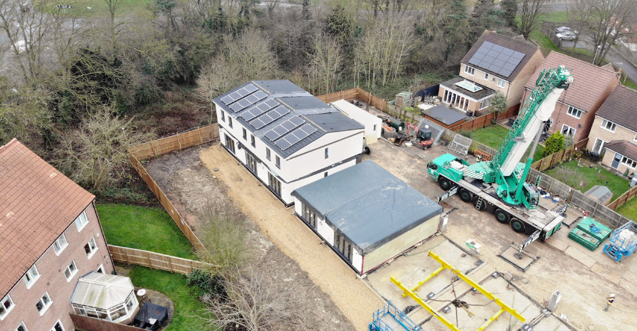 Production line to plot in four days: Nine new modular houses come to Newark