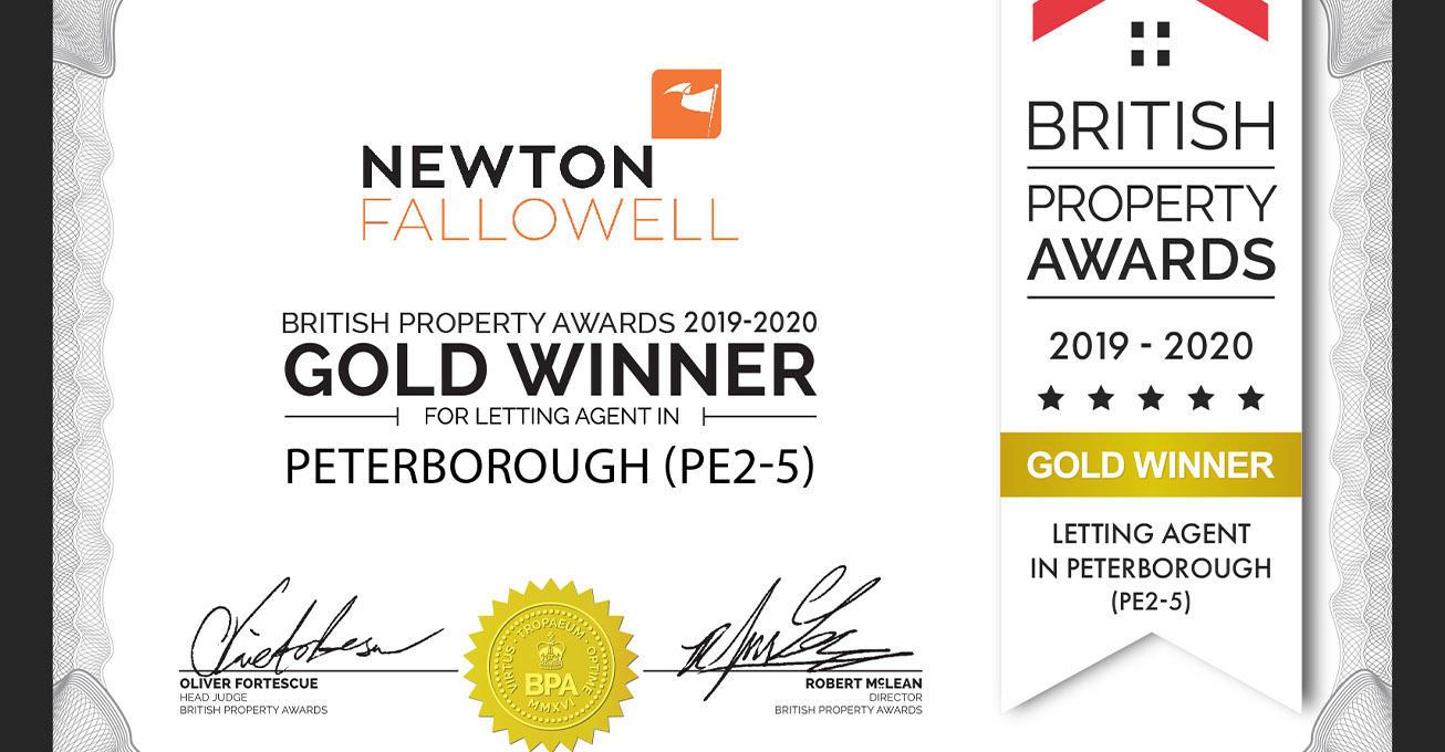 Newton Fallowell win award The British Property Awards