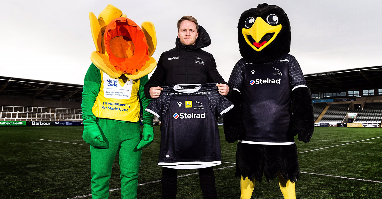 Newcastle Falcons team up with Marie Curie for 'The Big One'