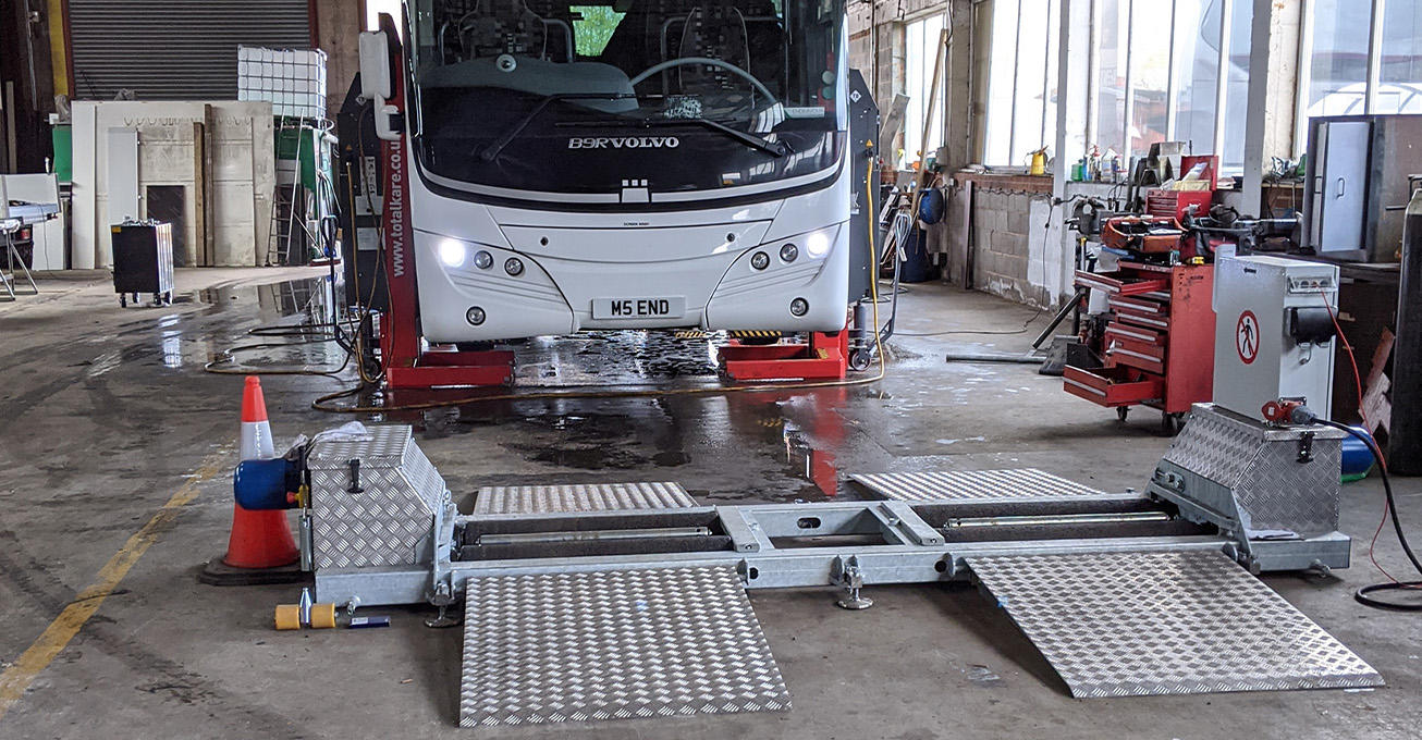 Birmingham coach company invests in Totalkare mobile brake tester for its Birmingham workshop