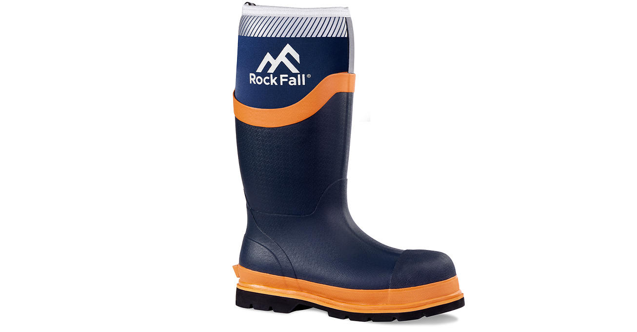 Rock Fall launch new Neoprene Wellington with advanced durability and visibility features for road and rail workers