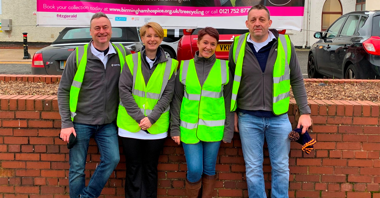 Harvey team raises hospice cash