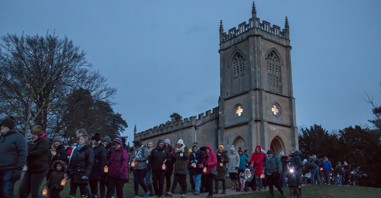 Lantern walk raises £11,000 for hospice