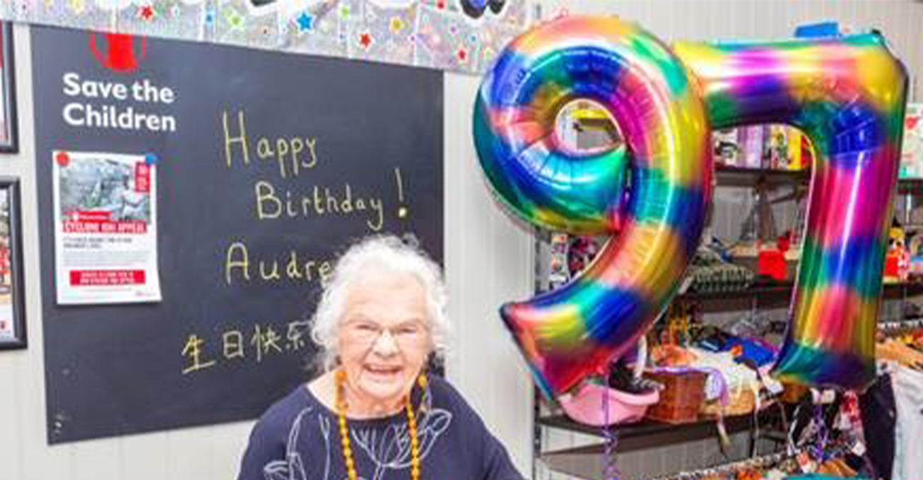 Oldest volunteer celebrates her 97th birthday volunteering in a charity shop in Leamington