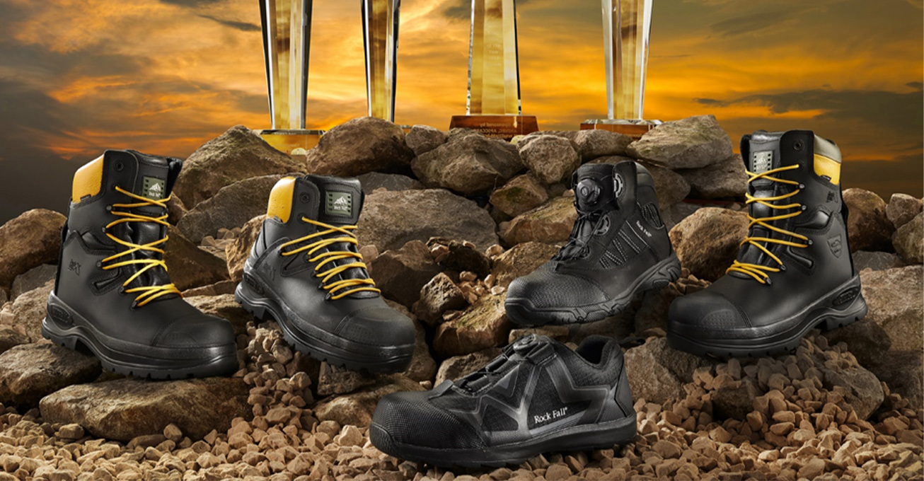 Huge stride forward in quality and compliance as Rock Fall Safety Boots are accredited to ISO 45001 by the Lloyds Register
