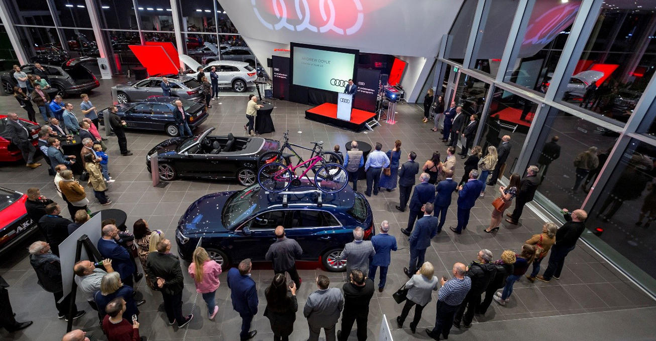 Lookers adds a touch of class to official opening of new Audi super site
