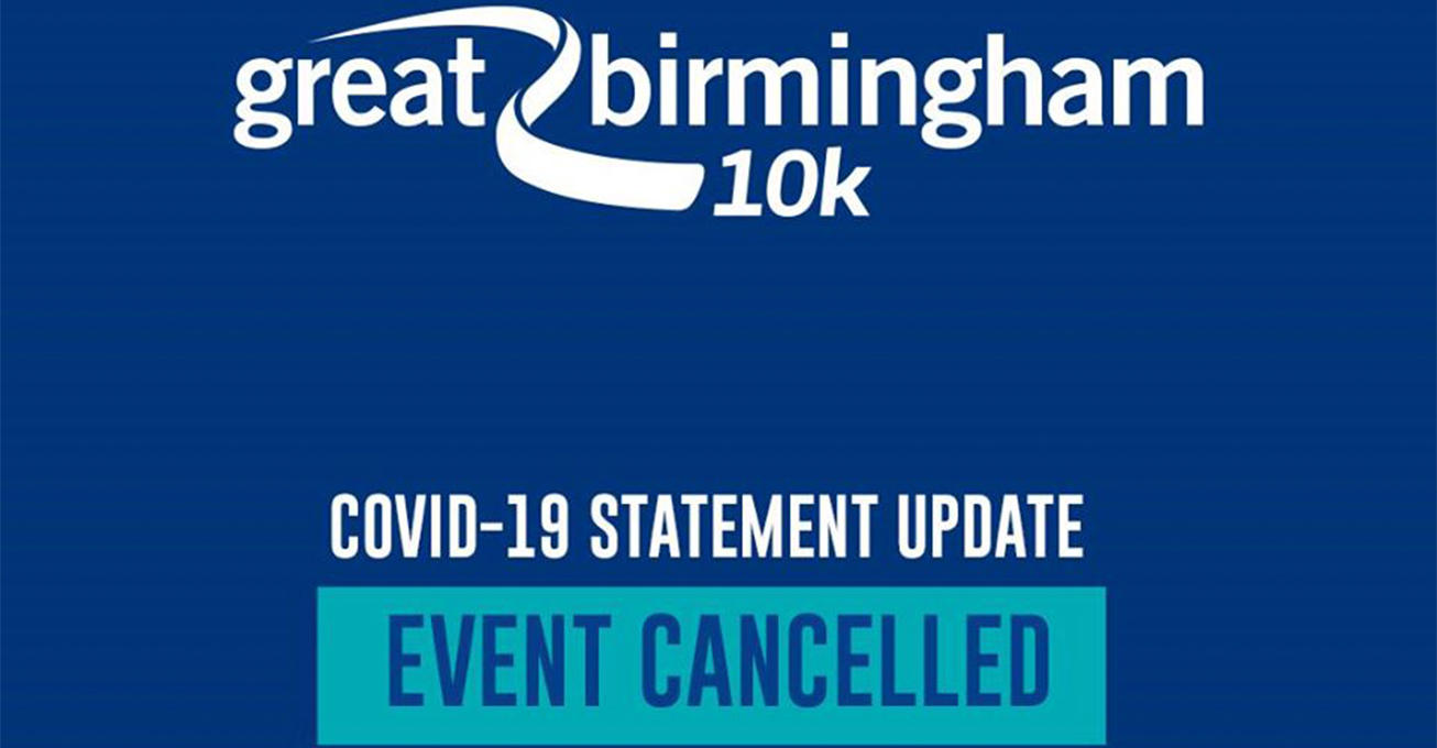 Great Birmingham 10k and Junior & Mini Great Birmingham Run cancelled