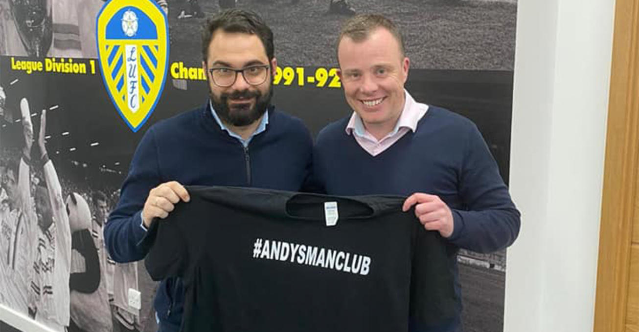 Mens peer support clubs receive backing from Leeds United